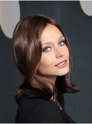 """Synthetic Straight 14"""" Brown Without Bangs New Season Monofilament Wigs"""