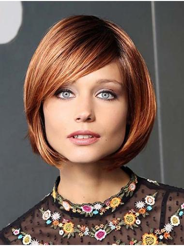 Auburn Long Monofilament Straight Synthetic Quality Bobbed Wigs