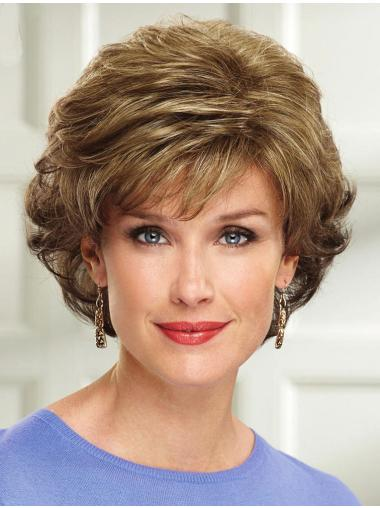 "8"" Layered Chin Length Wavy Natural Synthetic Wigs"