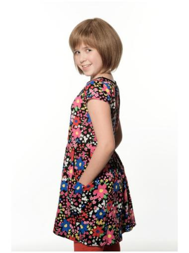 "8"" Brown 100% Hand-tied Exquisite Kids Wigs"