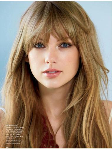 "Straight Human Hair Comfortable 20"" Taylor Swift Wigs"