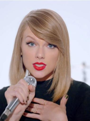 """Straight Remy Human Hair No-fuss 14"""" Taylor Swift Wigs"""