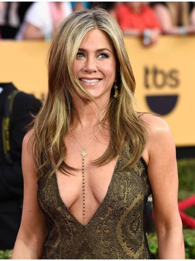 """18"""" With Bangs 100% Hand-tied Jennifer Aniston Wigs"""