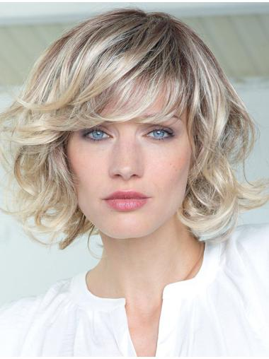 """High Quality Blonde Curly 10"""" Human Hair Wigs"""