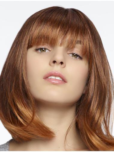 """Modern Auburn Straight 12"""" Human Hair Wigs"""