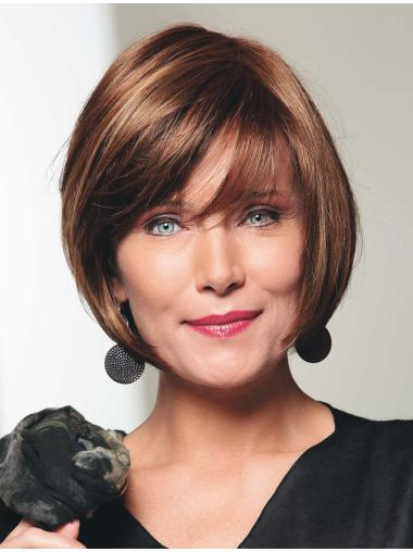 Fashionable Bobs Auburn 100% Hand-tied Synthetic Wigs