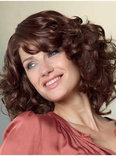 Style With Bangs Auburn Capless Synthetic Wigs
