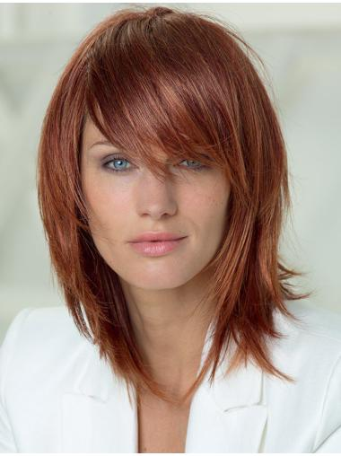 Good Layered Auburn Capless Synthetic Wigs
