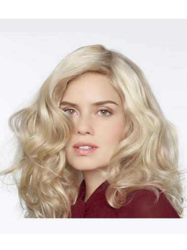 """Trendy Curly 18"""" Blonde 100% Hand-tied Wigs"""
