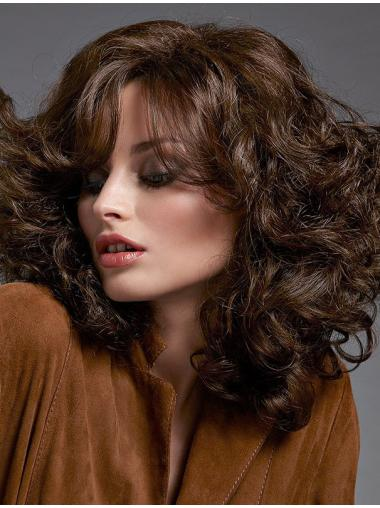Brown Curly Long Soft Lace Wigs