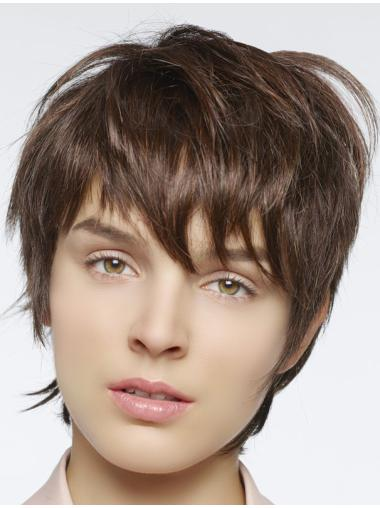 Auburn Straight Cropped Natural Lace Front Wigs