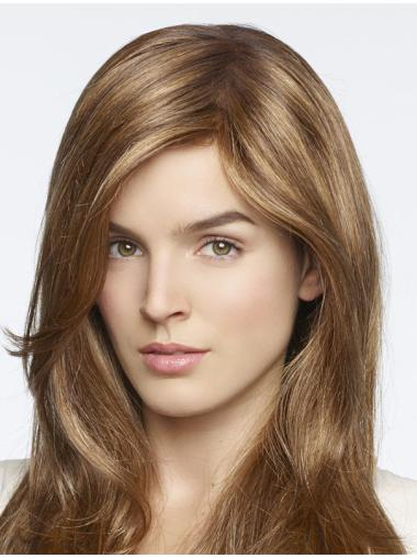 With Bangs Blonde Straight Monofilament Wigs