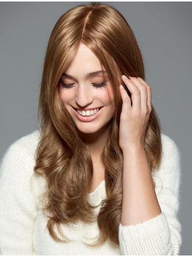 Without Bangs Blonde Wavy Capless Long Wigs