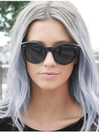 "Straight 18"" Long Grey Wigs"