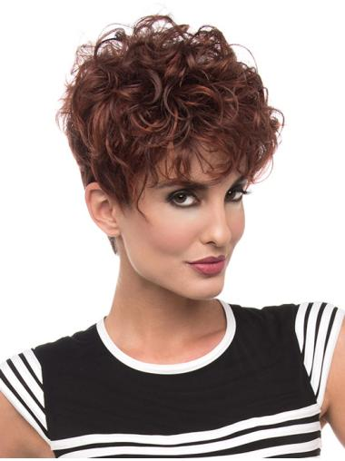 """Synthetic Red 6"""" Classic Wigs"""