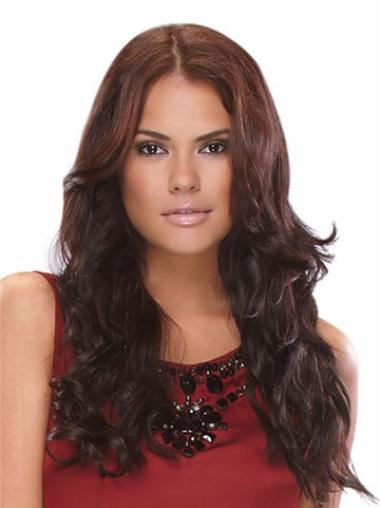 Long Auburn Lace Front Indian Remy Hair Wigs