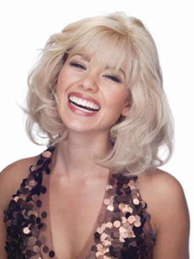 Blonde Wavy Lace Front Remy Human Hair Wigs