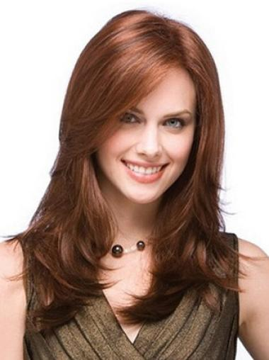 Long Auburn 100% Hand-tied Remy Human Hair Wigs
