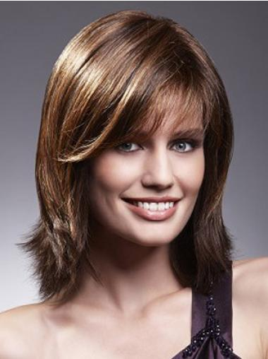 Medium Lace Front Human Hair Wigs