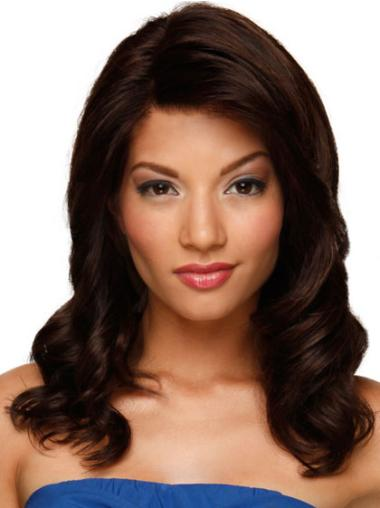 Long Auburn Wavy Lace Front Human Hair Wigs