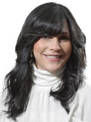 Long Wavy Monofilament Human Hair Wigs