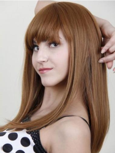 Blonde Long Straight Human Hair Wigs
