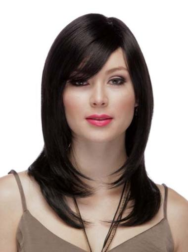 Long Hand-tied Human Hair Wig