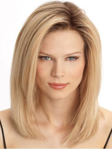 Blonde Straight Lace Front Human Hair Wigs