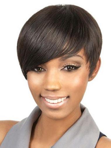 Short Brown African American Wig