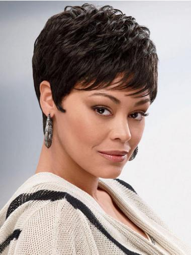 Cropped Synthetic African American Wigs