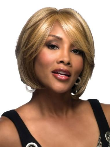 Blonde Lace Front Synthetic African American Wigs