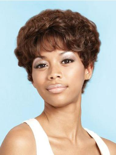 Short Curly Synthetic African American Wigs