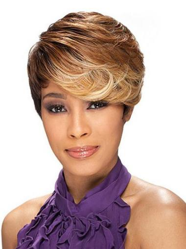 Short Synthetic African American Wig