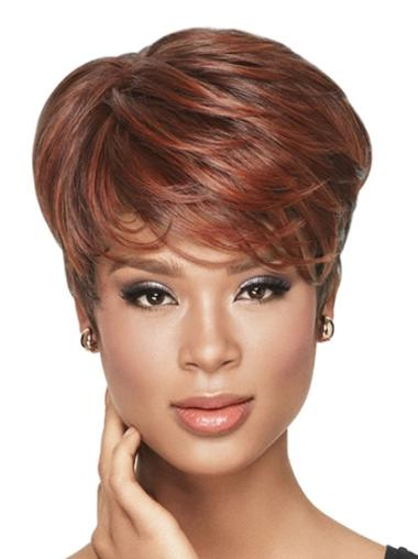 Red Wavy Synthetic African American Wigs