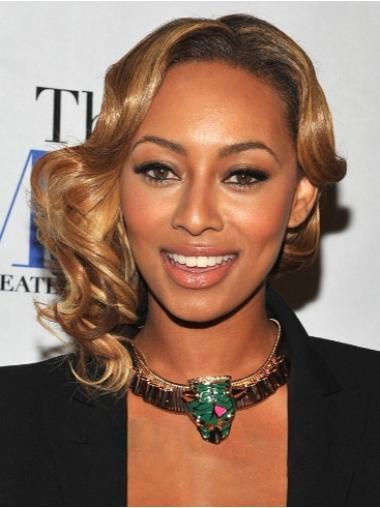 Blonde Wavy Lace Front Synthetic African American Wigs