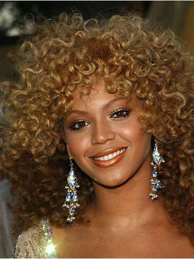 Natural Curly Synthetic Cancer Wigs