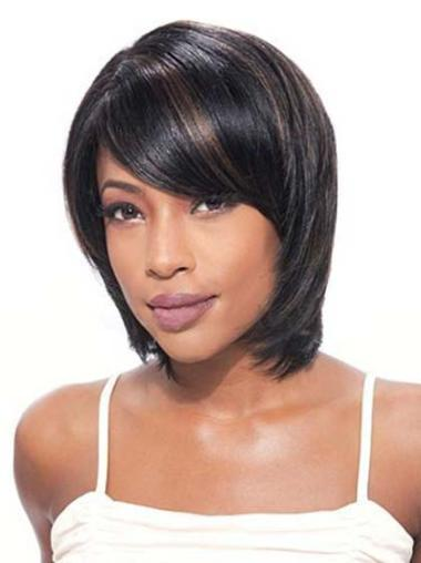 Chin Length Black African American Wigs
