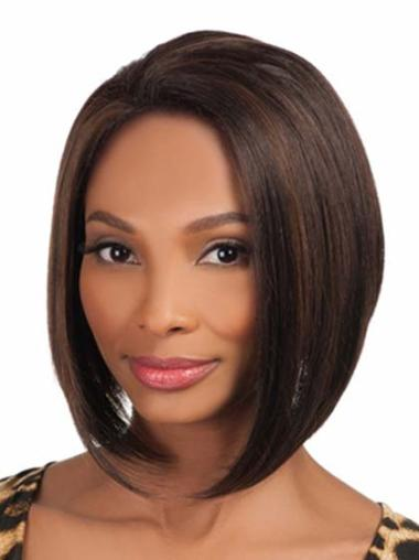 Straight Synthetic African American Wigs