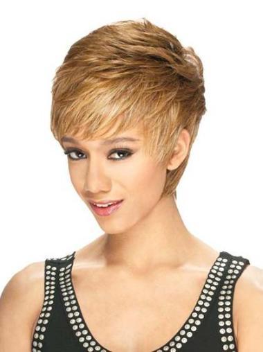 Short Blonde African American Wigs