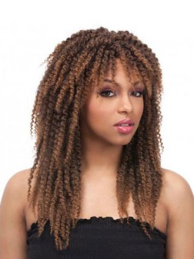Designed Curly Synthetic African American Wigs