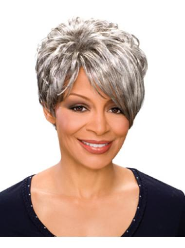 Short Wavy Synthetic African American Wigs