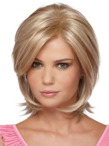 Suitable Blonde Straight Synthetic Wigs