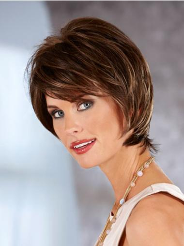 Chin Length Lace Front Synthetic Wigs