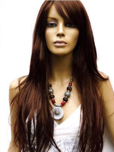 Long Lace Front Remy Human Hair Chemo Wigs