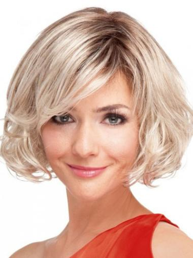 Blonde Wavy Synthetic 100% Hand-tied Wigs