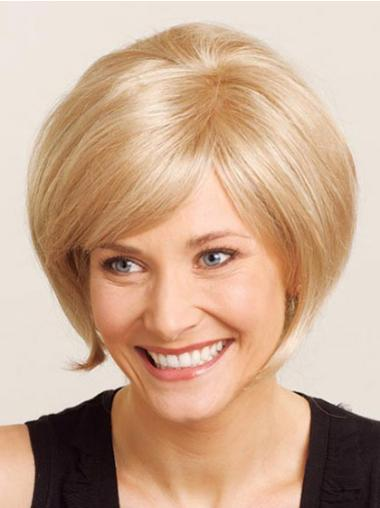Natural Short Blonde Hand-tied Wigs