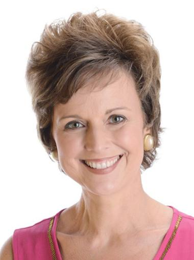 Perfect Short Hand-tied Remy Human Hair Cancer Wigs