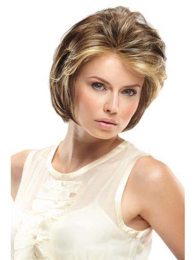 Short Blonde Wavy Synthetic Lace Wigs