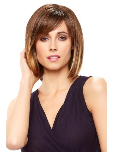 Affordable Brown Straight Cancer Wigs