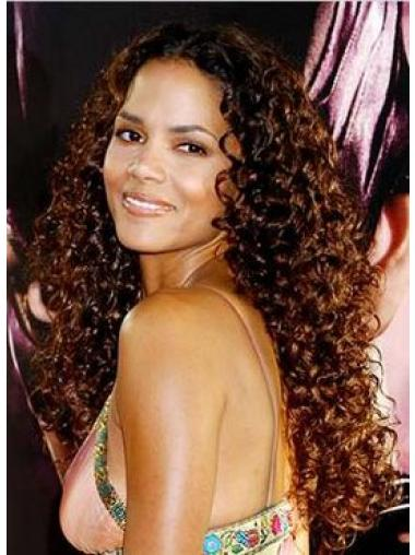 Long Auburn Indian Remy Hair Lace Front Wigs